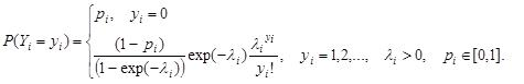 Zero-Inflated Poisson Formula